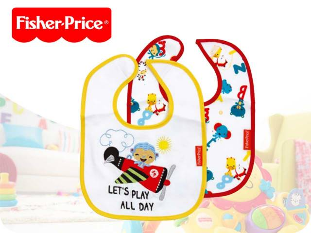 FP-SET OF 2 COTTON BIBS 22X28CM PH