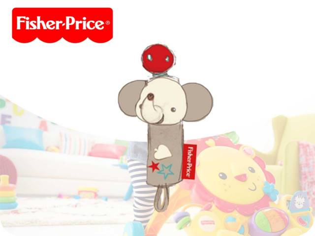 FP-ELEPHANT PACIFIER HOLDER 15CM PH