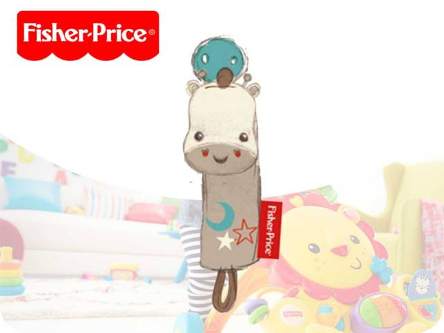 FP-GIRAFFE PACIFIER HOLDER 15CM PH