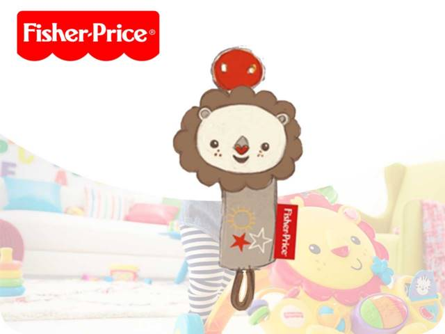 FP-LION PACIFIER HOLDER 15CM PH