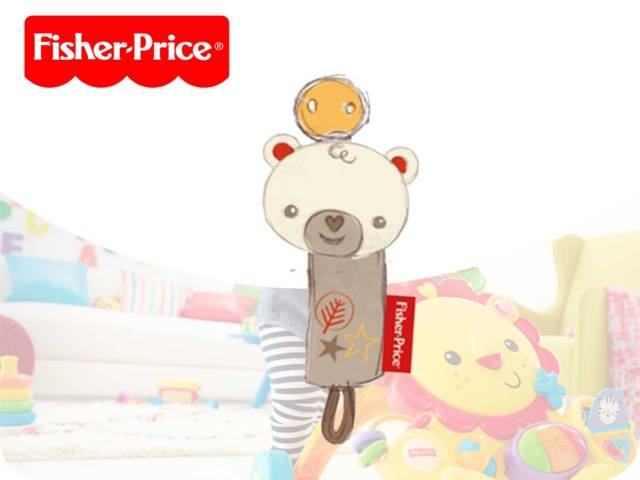 FP-BEAR PACIFIER HOLDER 15CM PH