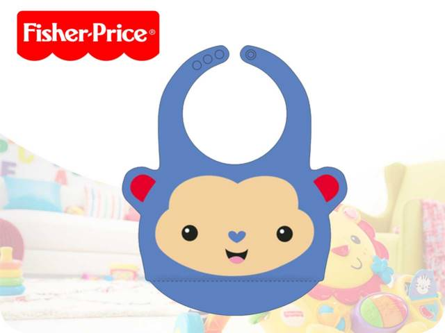 FP-SILICONE BABY BIB-MONKEY PH