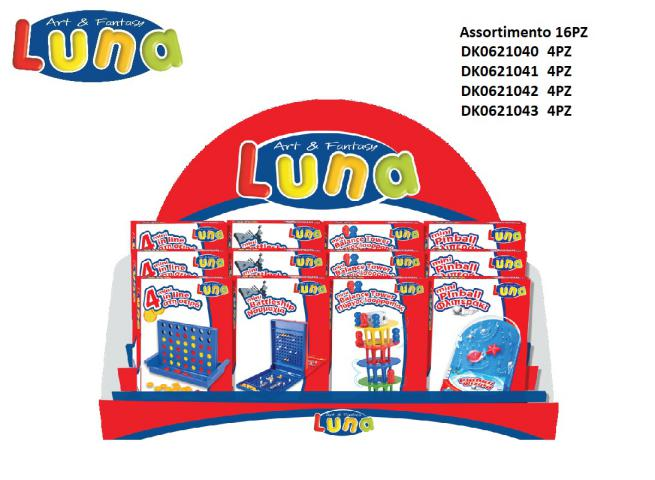 DISPLAY ASSORTIMENTO 4X (BATTAGLIA-TORRE-FORZA 4-FLIPPER) LUNA