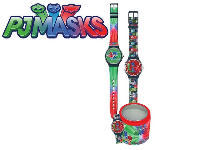 OROLOGIO ANALOGICO IN TIN BOX PJ MASKS 2 GRAFICHE