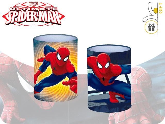 PORTAPENNE ALLUMINIO SPIDERMAN 10X10CM