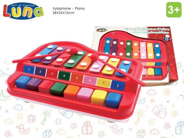 XILOFONO CON PIANO MUSICALE 27×22×10 LUNA