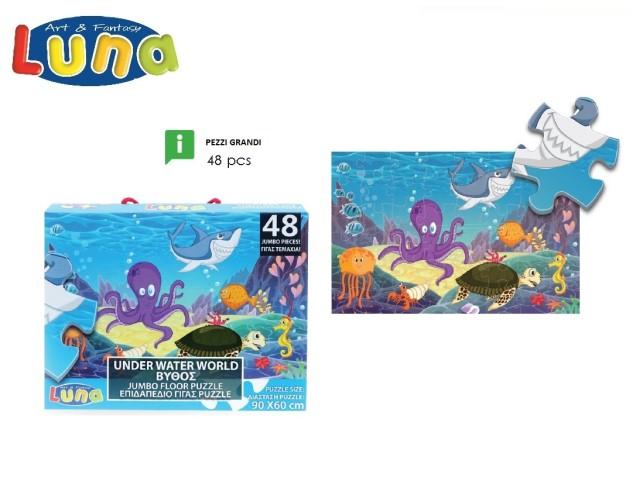 PUZZLE IN FONDO AL MARE 48PCS 90X60CM LUNA