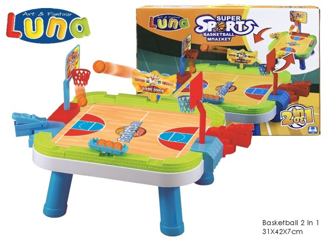 TABLE SNAKES&LADDER 2 IN 1 31X42X7CM LUNA