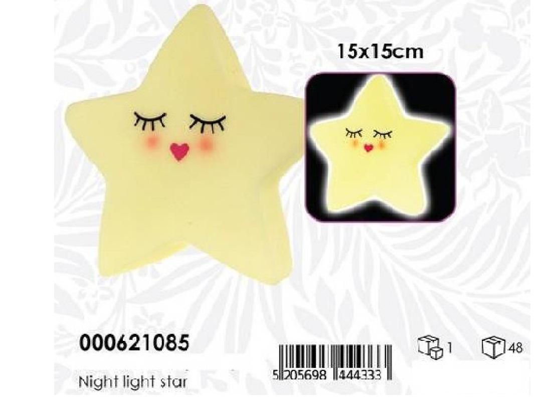 LUCE DA NOTTE STAR LUNA 15X15CM PH
