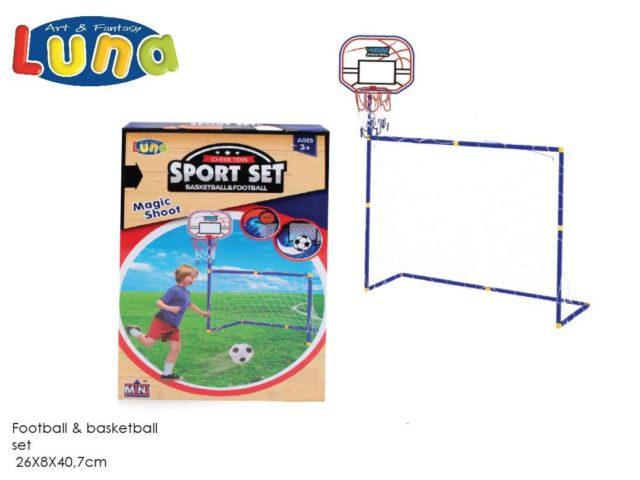 FOOTBALL & BASKETBALL SET 26x8x40.7CM LUNA