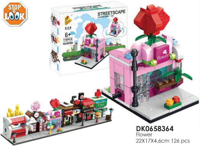 COSTRUZIONI FLOWER STORE 127PCS 22X17X4,6 CM STOP&LOOK