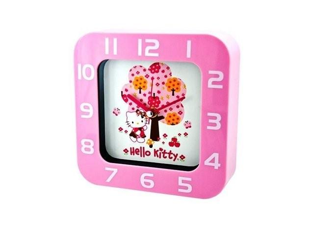 RECTANGULAR CLOCK BIG PINK TREE