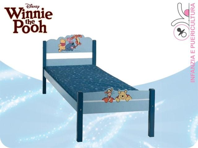 ARREDA CON GIOIA - Letto singolo Winnie the Pooh Blu - 198x78x85 cm