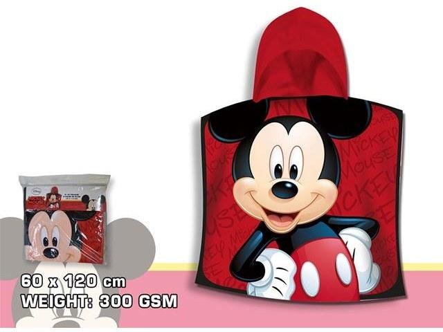 PONCHO MARE 100% COTONE 120X60 CM MICKEY