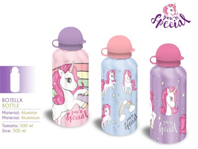 BORRACCIA ALLUMINIO 500ML UNICORNO PH