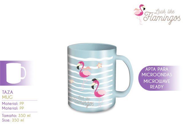 TAZZA MICROONDE 350ML FLAMINGO PH