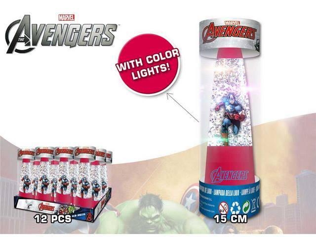 LAMPADA GLITTER AVENGERS EN DISPLAY 12U