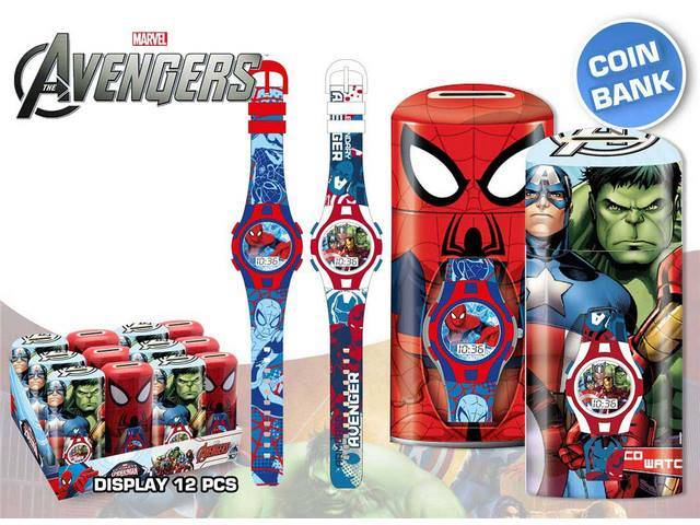 OROLOGIO MARVEL ASSORTITO EXP DE 12