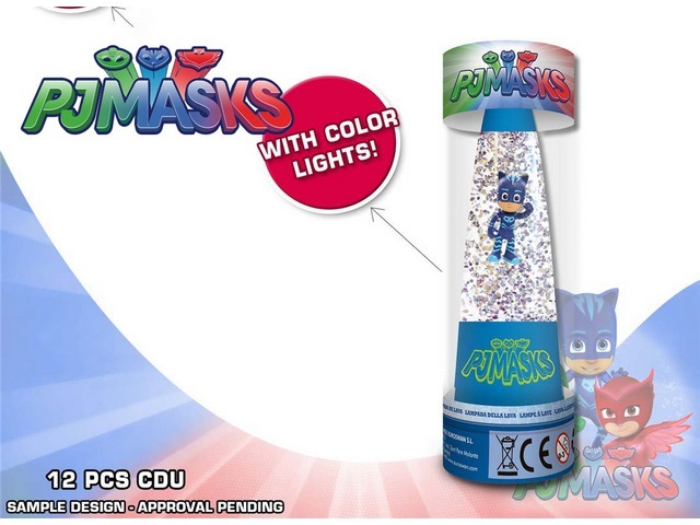 LAMPADA GLITTER DISPLAY 12U PJ MASKS