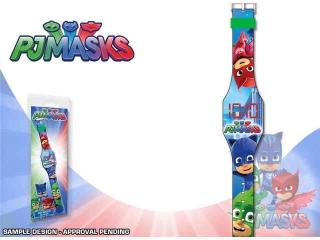 OROLOGIO DIGITALE CON LED PJ MASKS