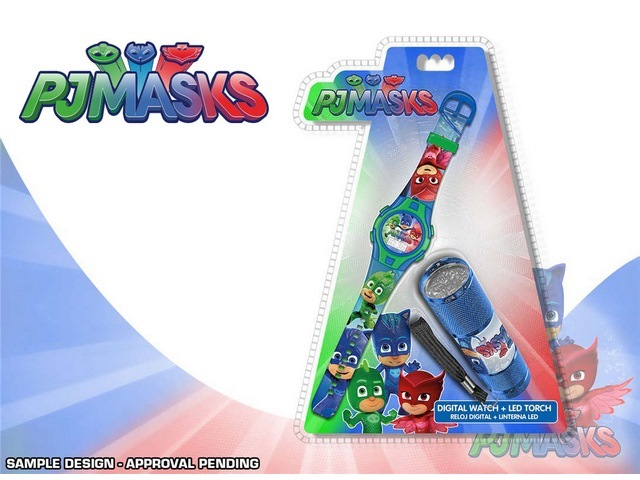 OROLOGIO DIGITALE + TORCIA PJ MASKS