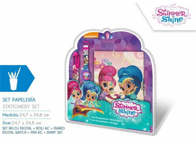 SET OROLOGIO DIGITALE + PENNA 6C + DIARIO SHIMMER AND SHINE