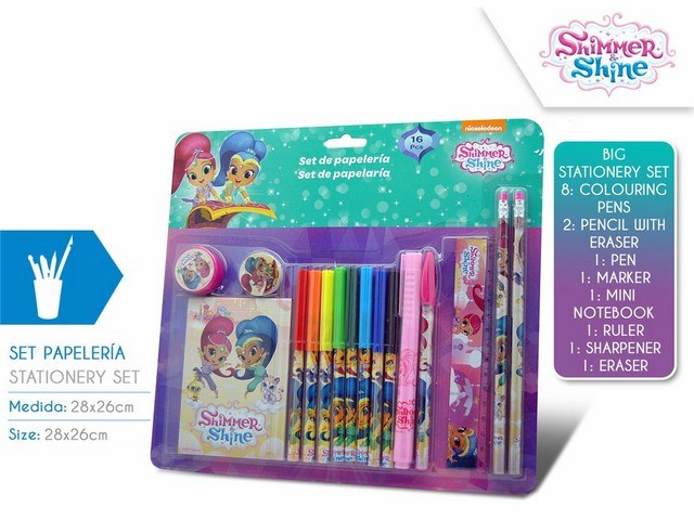 SET CARTOLERIA 16 PEZZI SHIMMER AND SHINE