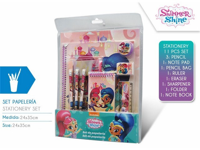 SET CARTOLERIA 11 PEZZI SHIMMER AND SHINE