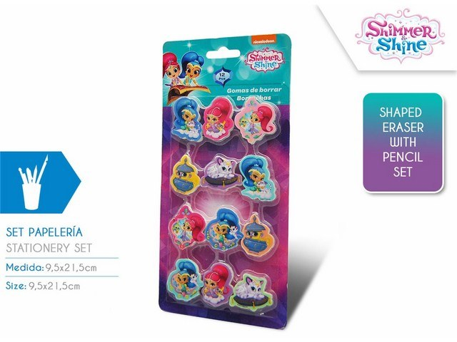 SET 12 GOMME SHIMMER AND SHINE
