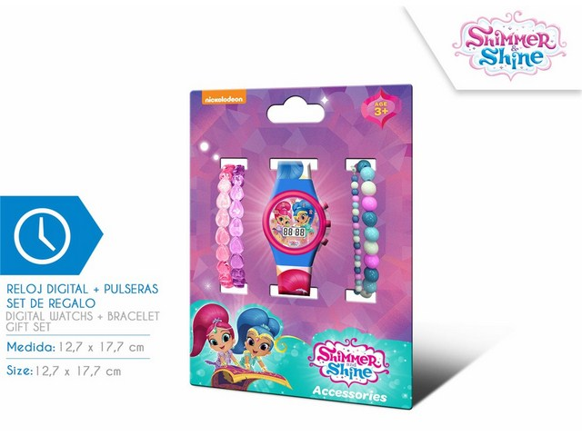 SET OROLOGIO DIGITALE + BRACCIALI SHIMMER AND SHINE