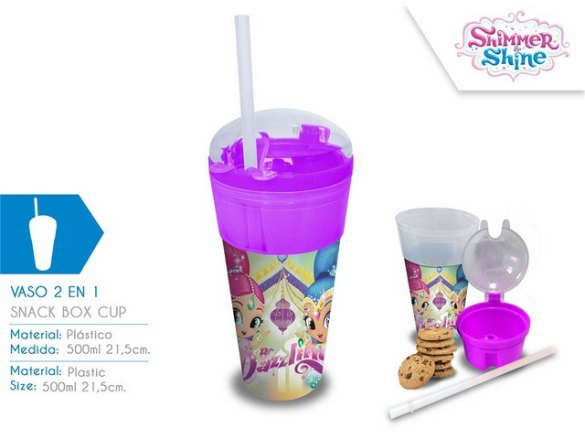 BICCHIERE CONTENITORE 2 IN 1 SHIMMER AND SHINE PH
