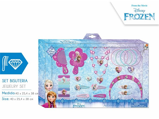 SET ACCESSORI CAPELLI 25 PCS FROZEN