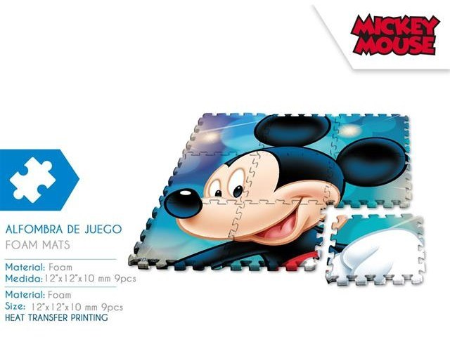 TAPPETO PUZZLE 90X90 CM 9 PCS MICKEY