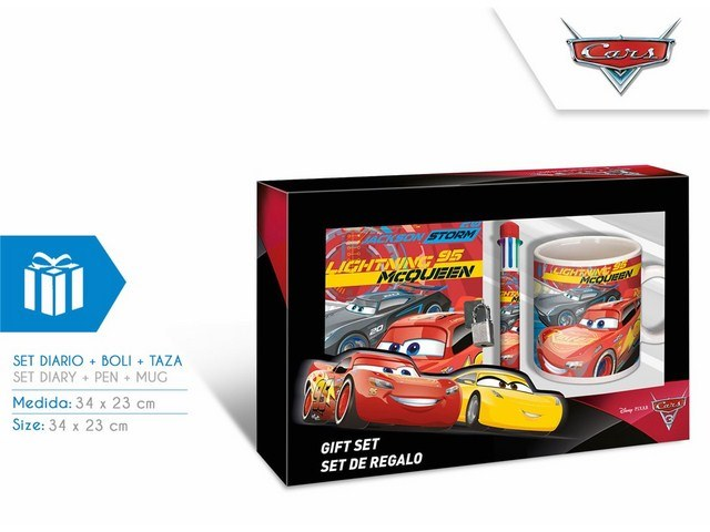 SET DIARIO+PENNA+TAZZA CARS 3