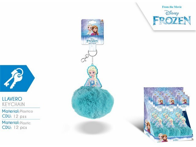 PORTACHIAVI POMPON IN DISPLAY 12U FROZEN