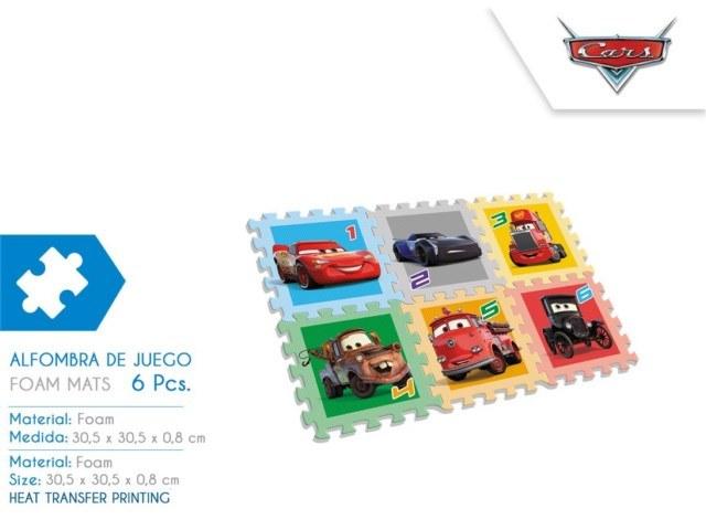 TAPPETO PUZZLE EVA 6 PZ CARS