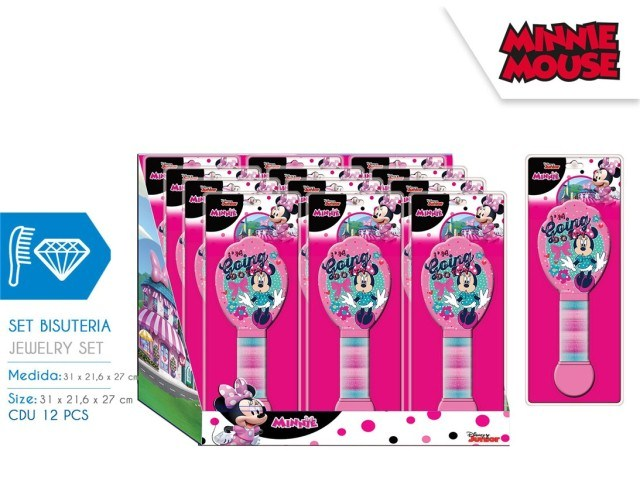 SET SPAZZOLA CON ELASTICI MINNIE DISPLAY 12 U