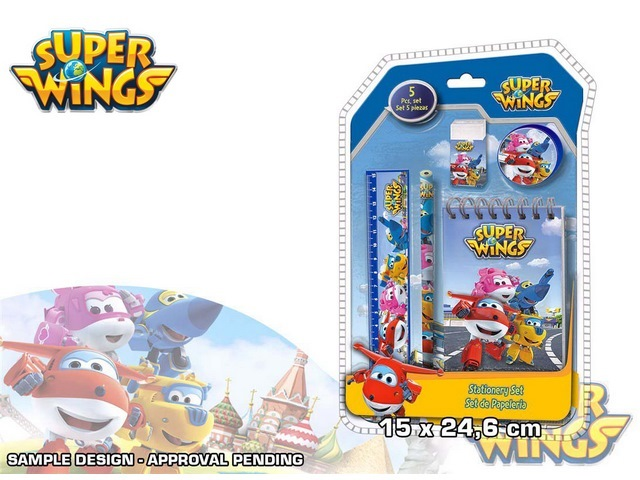 STATIONARY SET  5PZ CONFEZIONE 3D SUPER WINGS