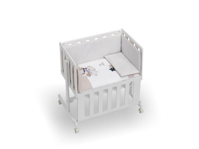 MINICULLA CO-SLEEPING MINANA 55X85X90 CM BEIGE CON TESSUTO 100% COTONE VOLAMOS BABY BEIGE
