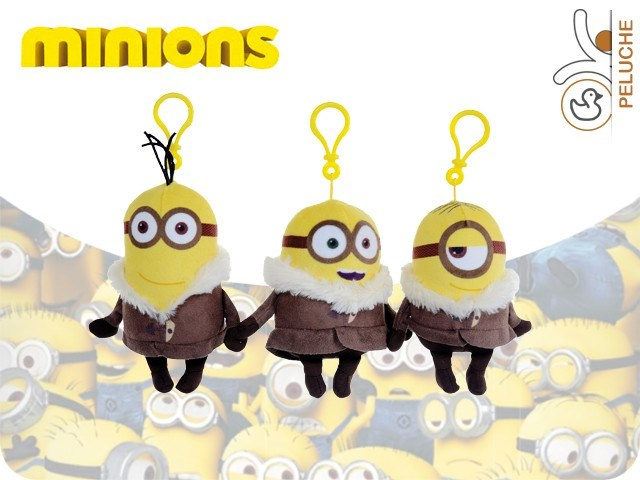 P/CHIAVI IN PELUCHE MINIONS ICE VILLAGE 13CM