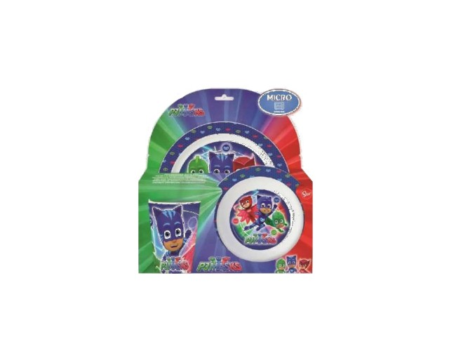 SET PAPPA 3 PZ. MICROW. PJ MASKS PH