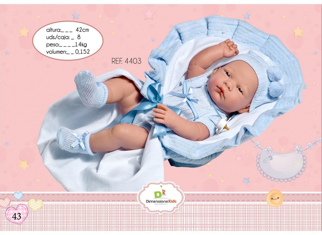 BAMBOLOTTO PORT ENFANT CELESTE 42 CM SCATOLA SINGOLA