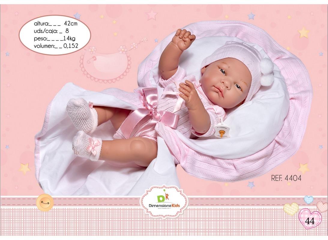 BAMBOLA PORT ENFANT ROSA 42 CM SCATOLA SINGOLA