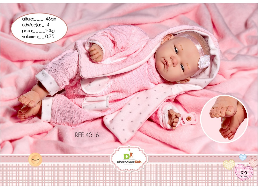 REBORN SARA TASCHE STELLE 45 CM SCATOLA SINGOLA