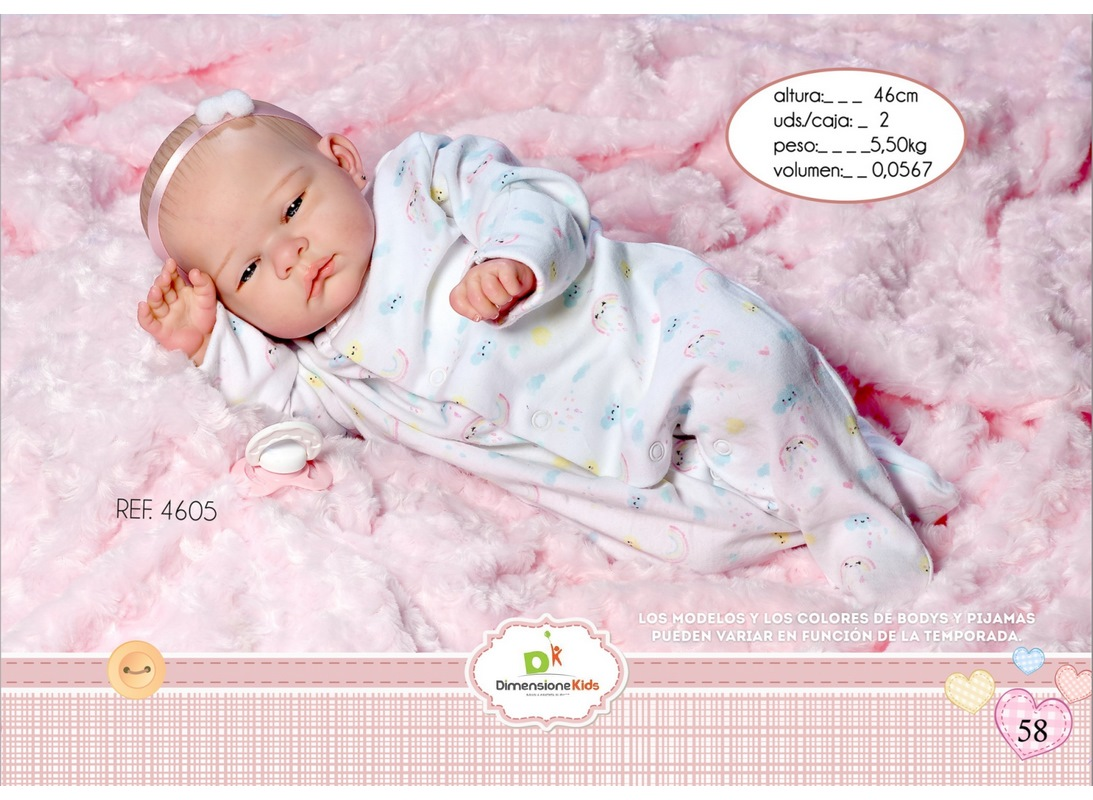 REBORN DANIELA GIUBBINO CUSCINO 46 CM SC.SING. 1,90 KG