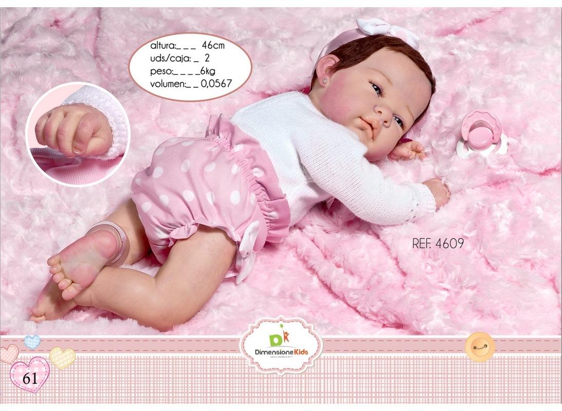 REBORN DANIELA COPERTA PELO ROSA  46 CM. SC.SING. 1,90 KG
