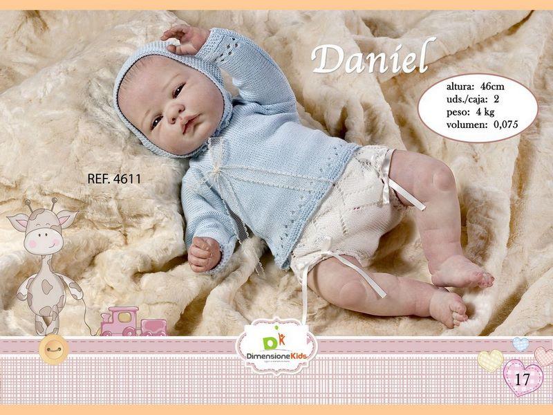 BAMBOLA DANIEL VESTITO AZZURRO 46 CMS 1.600 GRS C/IND