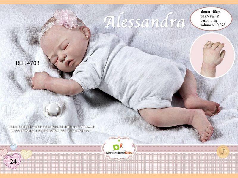 BAMBOLA ALESSANDRA DORMENDO CON BODY ASS.TI 46 CMS 1.600 C/I