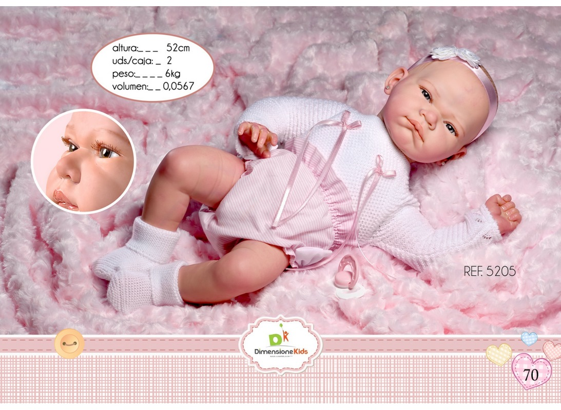 REBORN YASMINA FASCIA COPERTA 52 CM SC. SING. 3000 KG