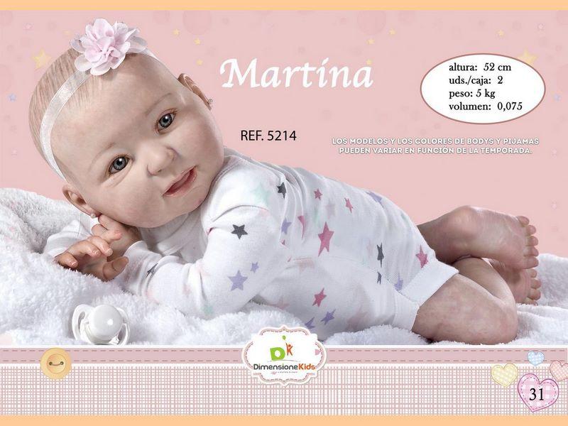 BAMBOLA MARTINA BODY ASS.TI 52 CMS 2.500 GR C/ IND